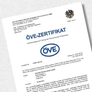 Download AKS ÖVE Zertifikat