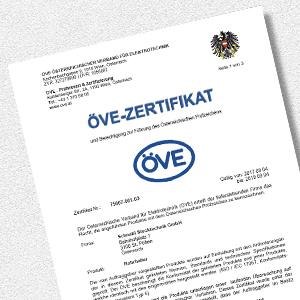 Download EC/UVB ÖVE Zertifikat